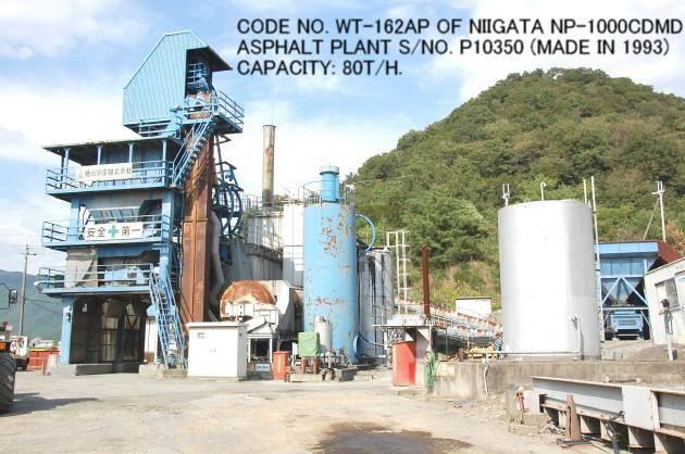 USED NIIGATA MODEL NP-1000CDMD ASPHALT PLANT S/NO. P10350