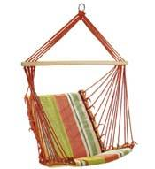selling Rope hanging Cotton hammock chair swing chair for Outdoor Garden leisure camping