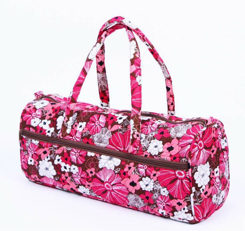 Quilted cotton 100% duffle bag,travel bag