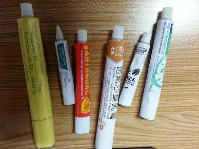 Aluminum tube for art paint or medical cream