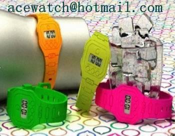 silicone watch (super thin silica gel wristwatches) K