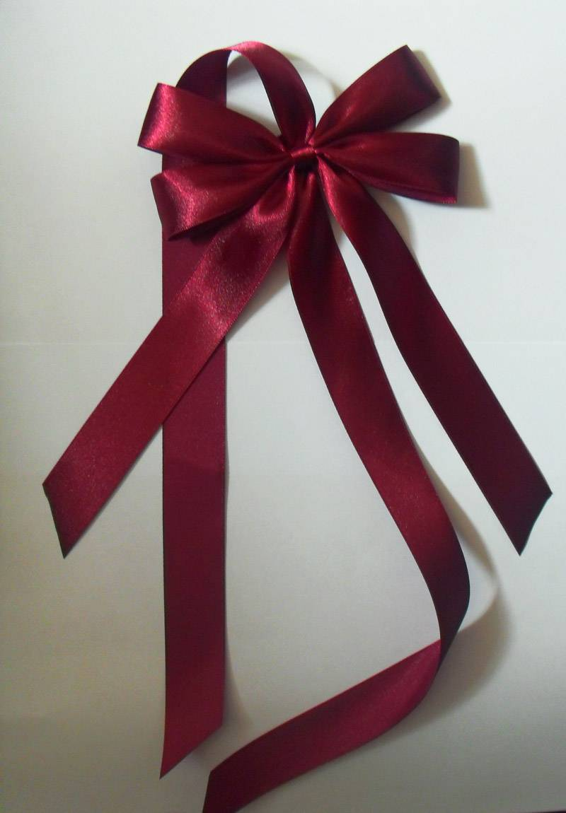 satin ribbon butterfly bows back with a same ribbon length