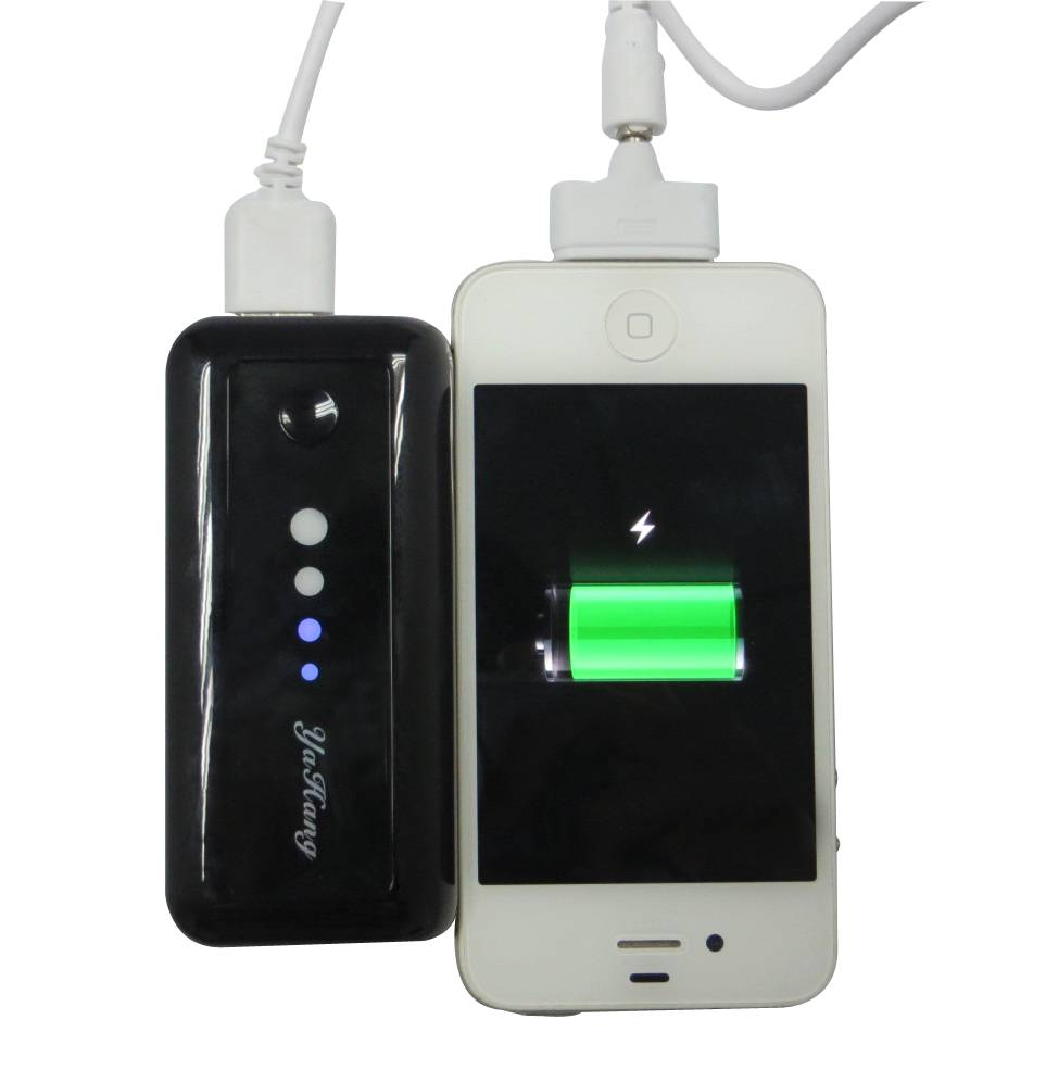 Charger for iPhone, with LED Flashlight, 5,200mAh Capacity, Also Ideal for Various Mobile Phones