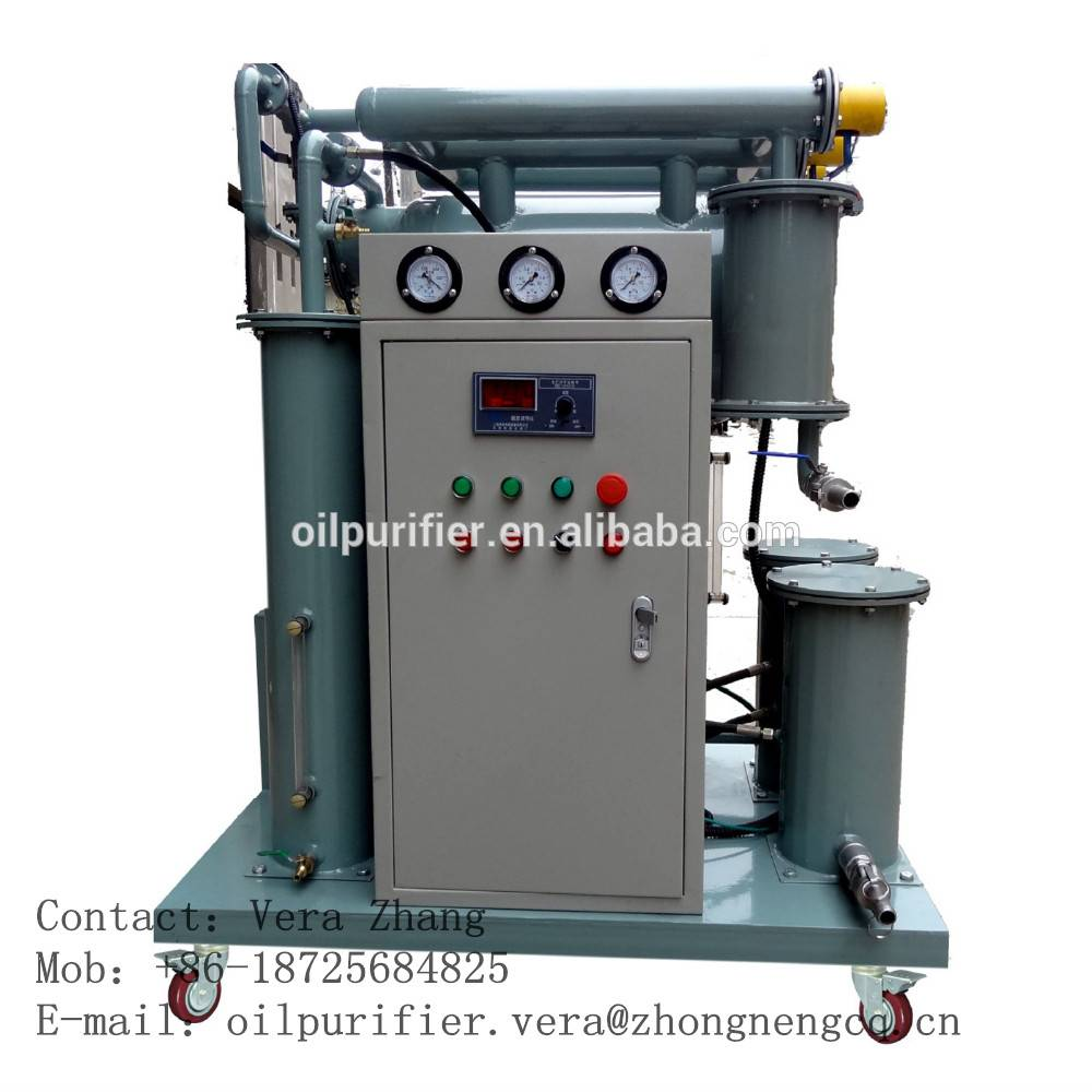 Highly Effective Vacuum Transformer Oil Purifier/Oil Cleaning Machine Series ZY
