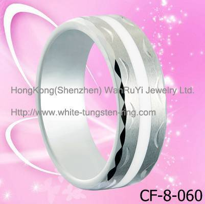 Quality Jewelry Resin Inlay Tungsten Ring hot sales