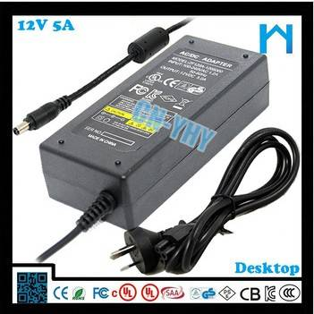 AC cable include SAA certified 12v 5a switch power
