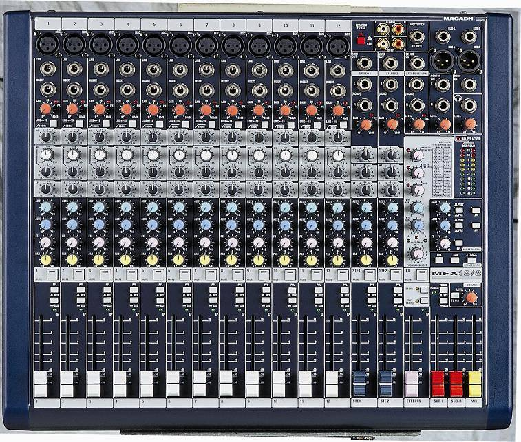 8/12 channel pro-audio mixer MFX12/2