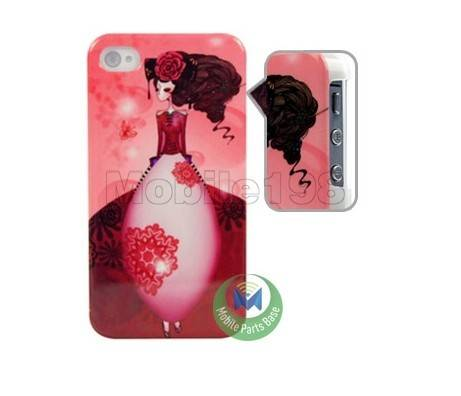 Two-tone Design Matte Hard Case for iPhone 4/4S Pink & Black