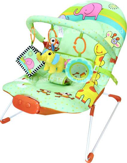 Green Zoo baby bouncer