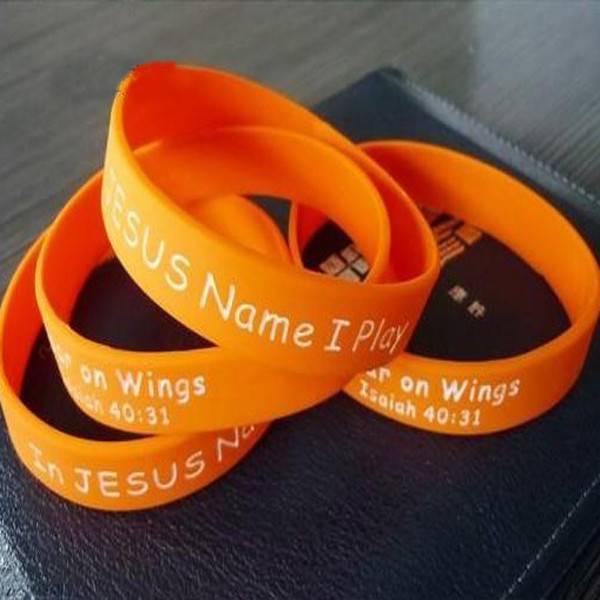 Christian gift Jeremy lin Orange silicone bracelets