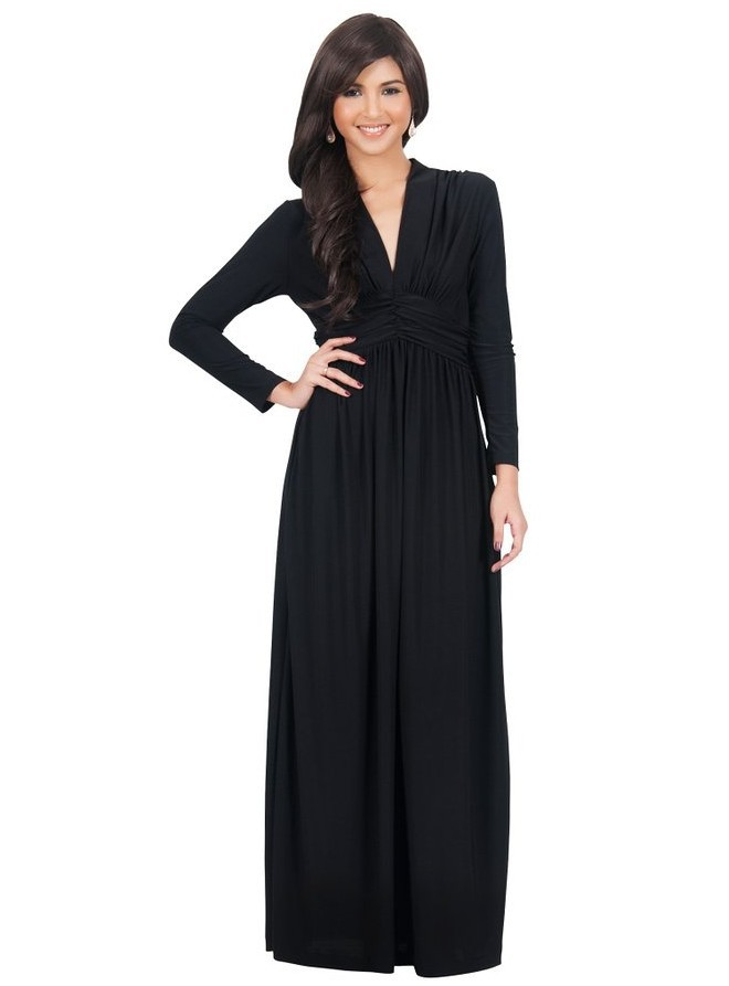Elegant Vintage Long Sleeves Party Dress Evening Gown