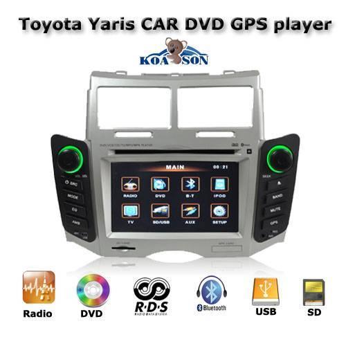 Car DVD GPS Navigation Player For Toyota Yaris