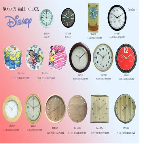 Disney Brand Wooden Clocks and watches