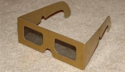 Paper linear polarized 3D glasses