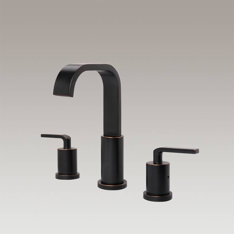 Two handle wide spread bathroom faucet