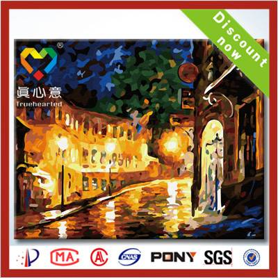 diy oil painting by number kits 100% handmade