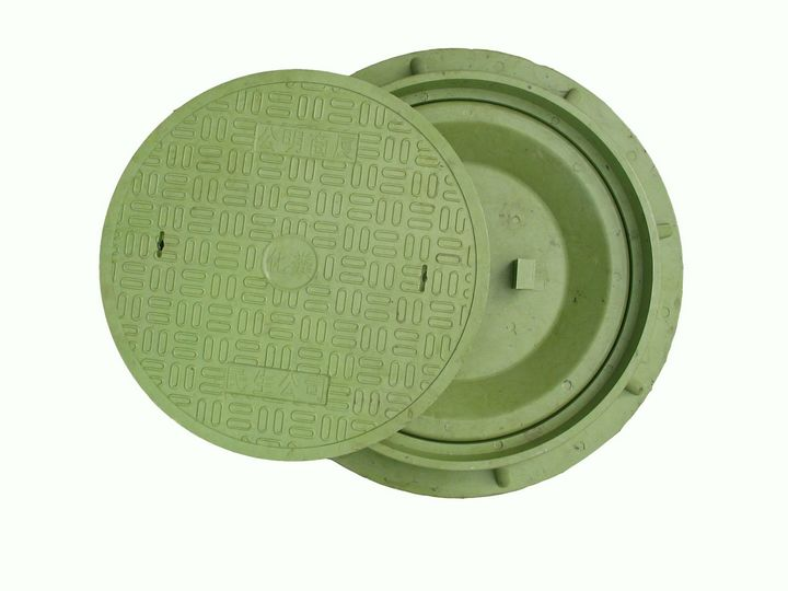 Anti-theft SMC(sheet molding compound) round manhole cover with CE