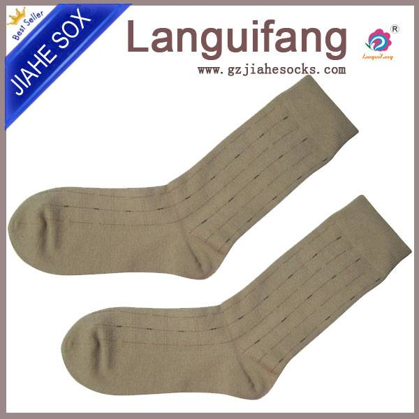 high standard embroidered combed cotton business men's socks