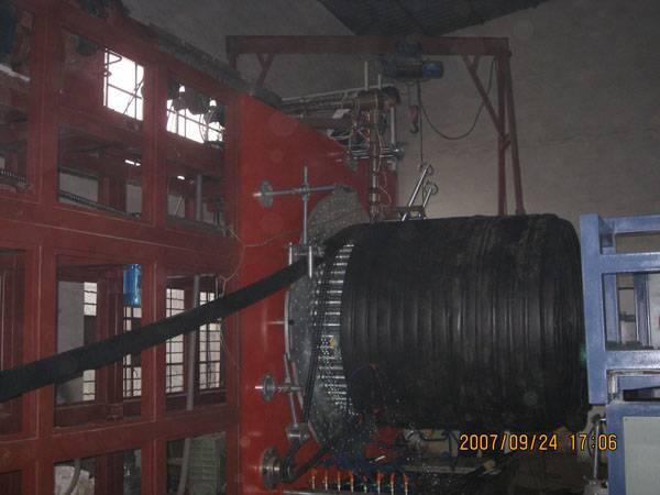 large diameter hollowness winding pipe machine