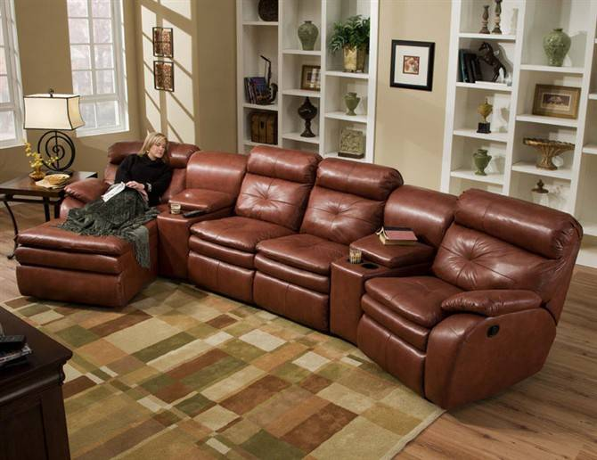 Electric recliner furniture sofa/reclining leather sofa set LS602