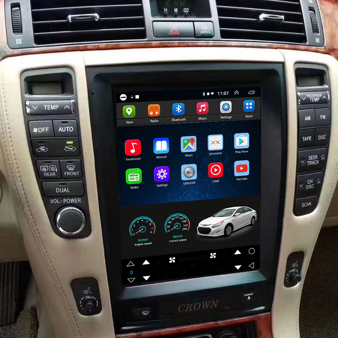 Tesla Style 10.4 Inch Android Car Multimedia Navigation For Toyota Crown 2006-2009