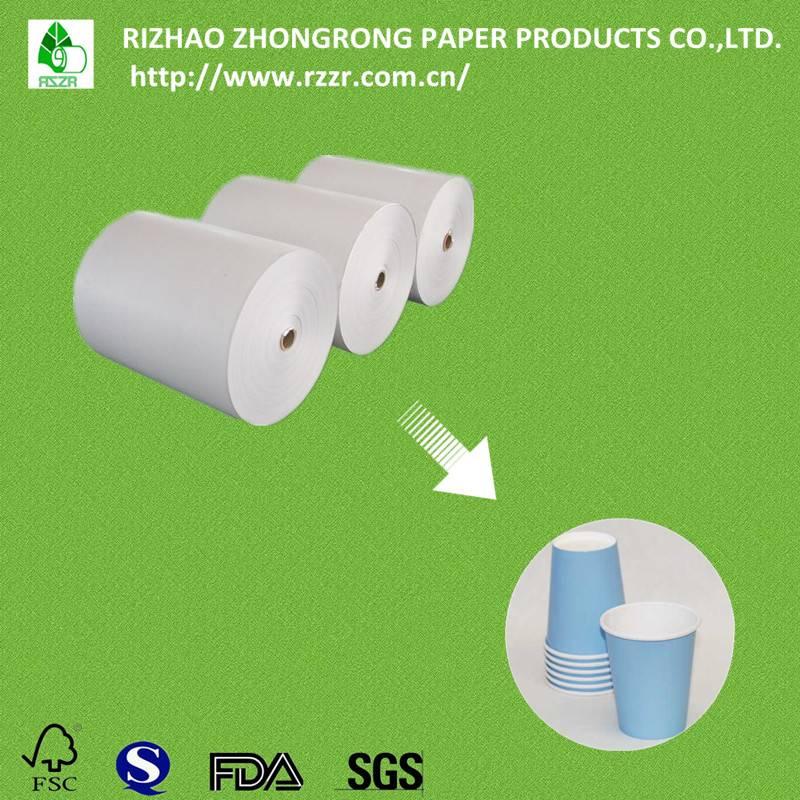 matt/glossy PE coated paper cup raw material