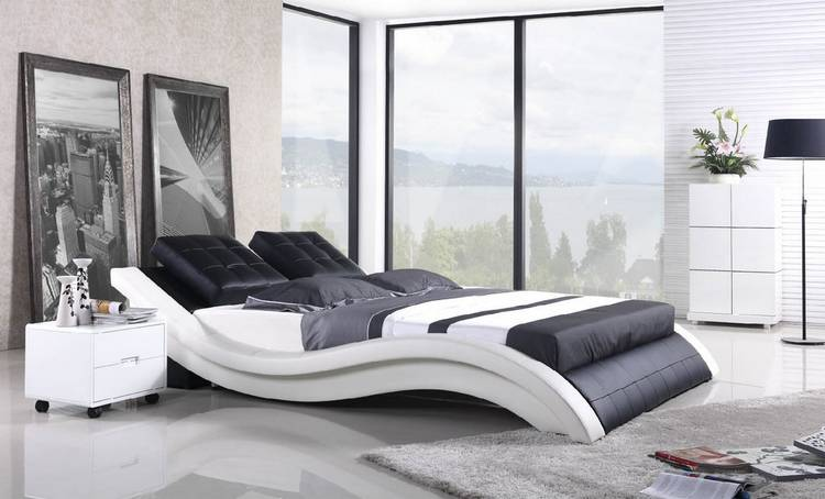 leather bed B02
