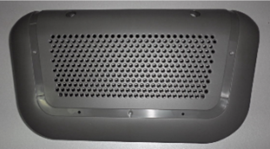 Black Custom Plastic Enclosures ABS Printer Cover Copier Housing With Precision Injection Molding