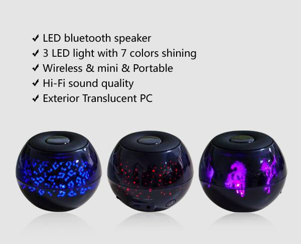 portable outdoor handfree NFC bluetooth 4.0 wireless mini speaker