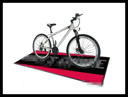 Bicycle And Motorcycle Printed Logo Carpet Mat