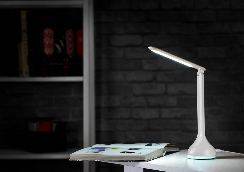 Minimal LED Table Lamp With RGB Base