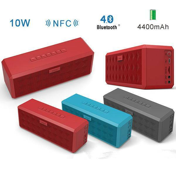 Home design built-in subwoofer portable bluetooth wireless speaker