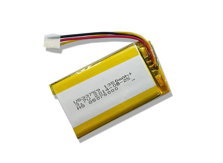 3.7V 1350mAh Lithium Ion Polymer Battery