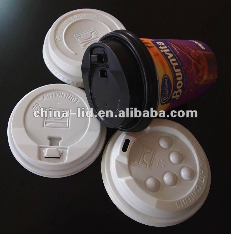 Plastic coffee cup cap
