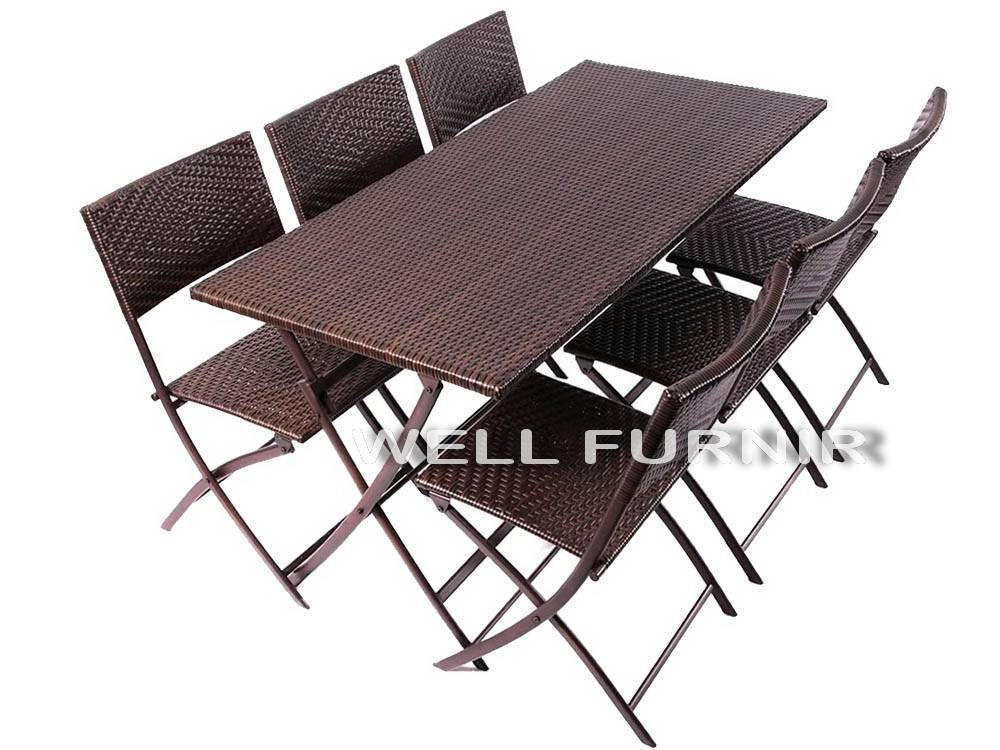 Supply 6-person Wicker Rattan Dinning Table