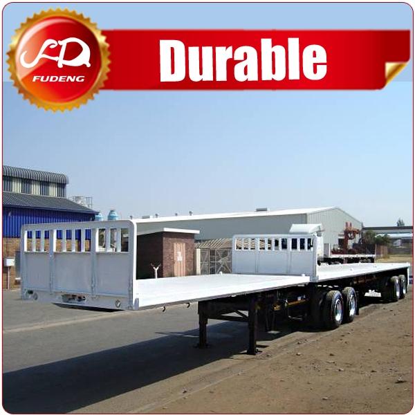 China super link semi trailer flatbed trailer with twist lock