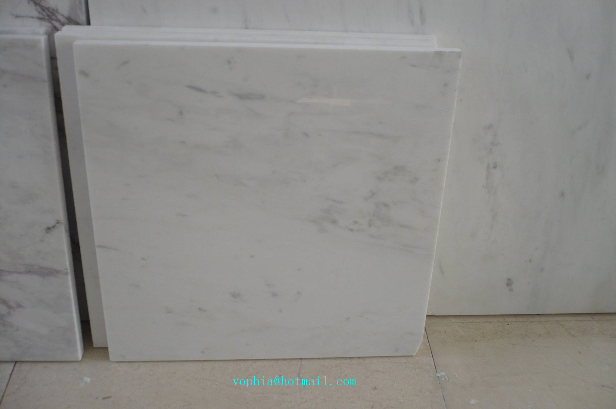 Imported ariston white marble cut-to-size for tile