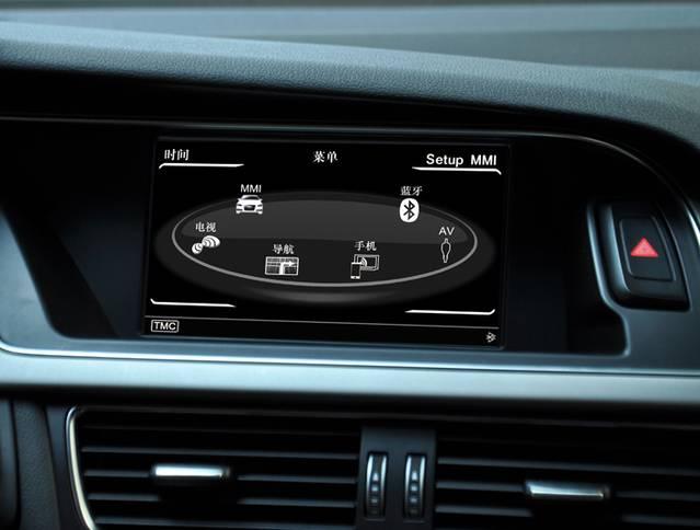 Audi A4/A5 screen-upgrade system