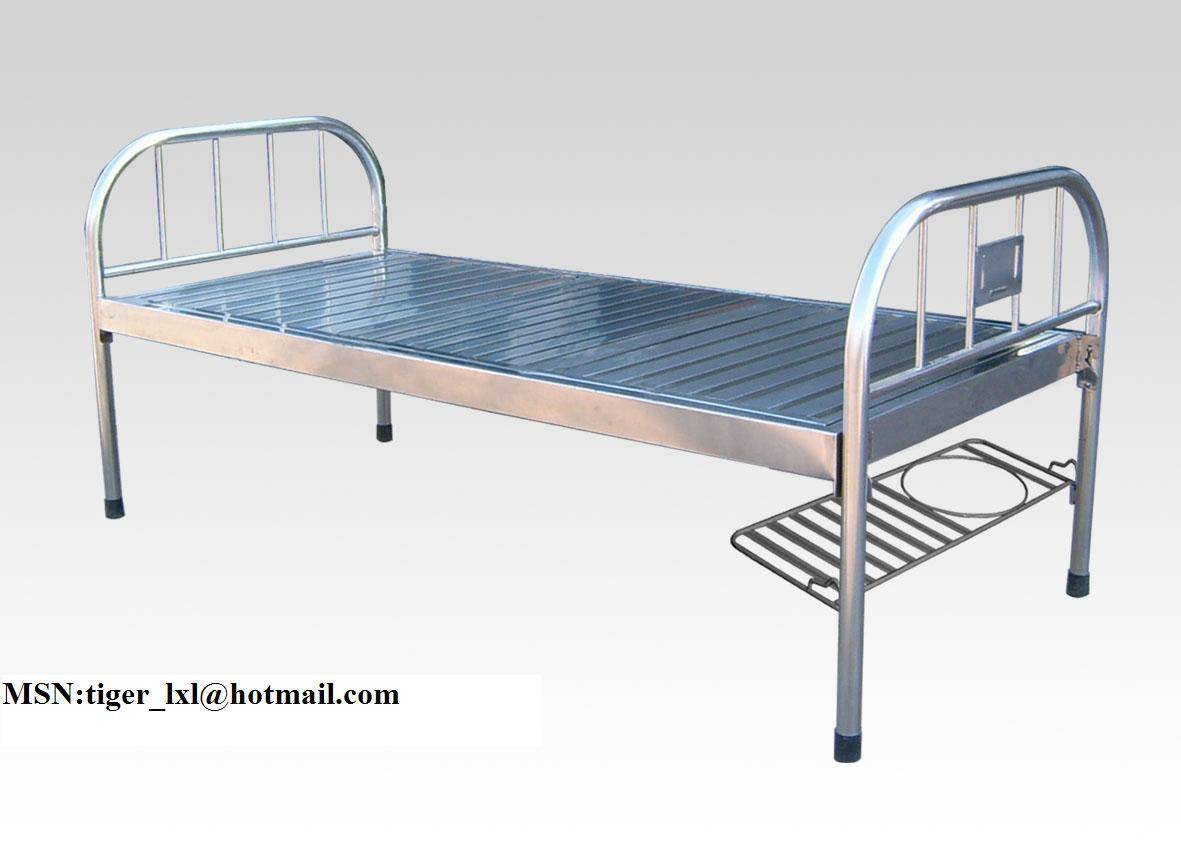 stainless steel flat manual bed A-69