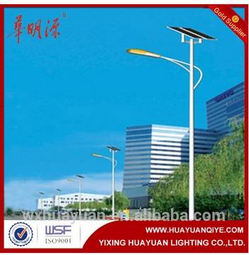galvanised solar street light pole