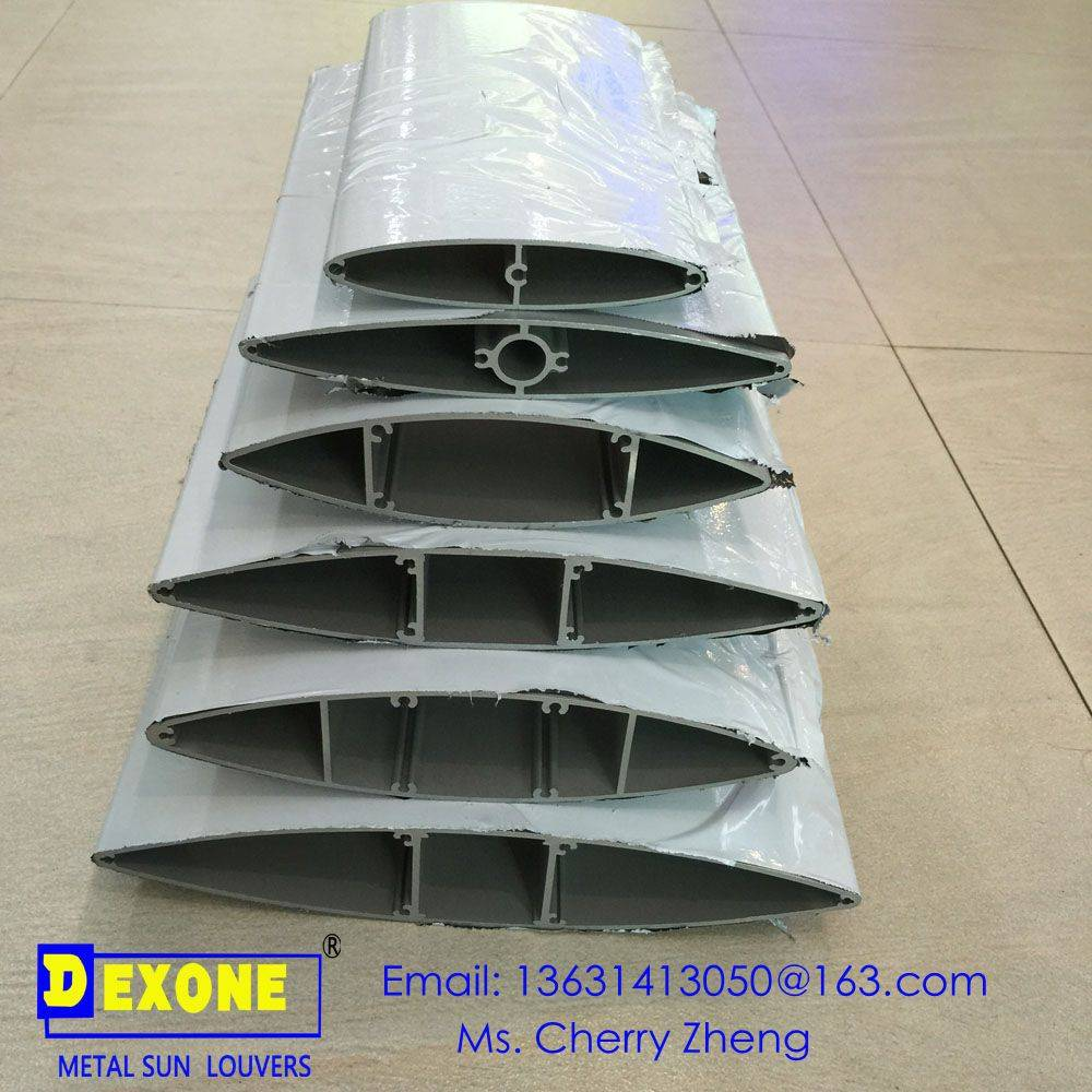Aerofoil aluminum sun louver aluminum extrusion