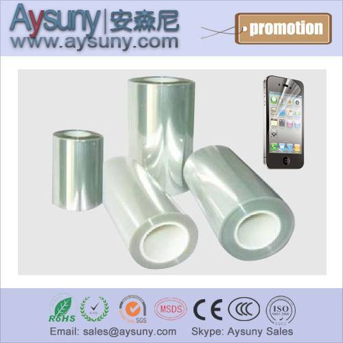 Three layer PET protective film in roll scratchproof screen protector roll material for mobile phone