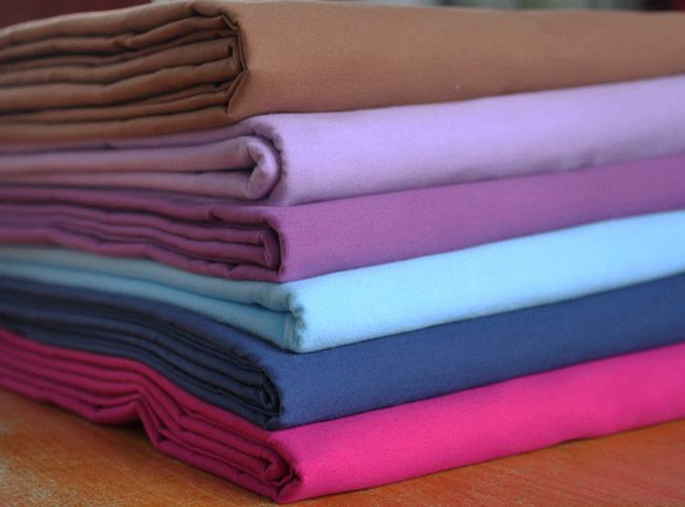 polyester cotton 80/20 110x76 dyed fabric