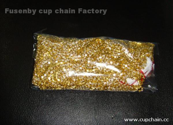 fusenby empty round cup chain