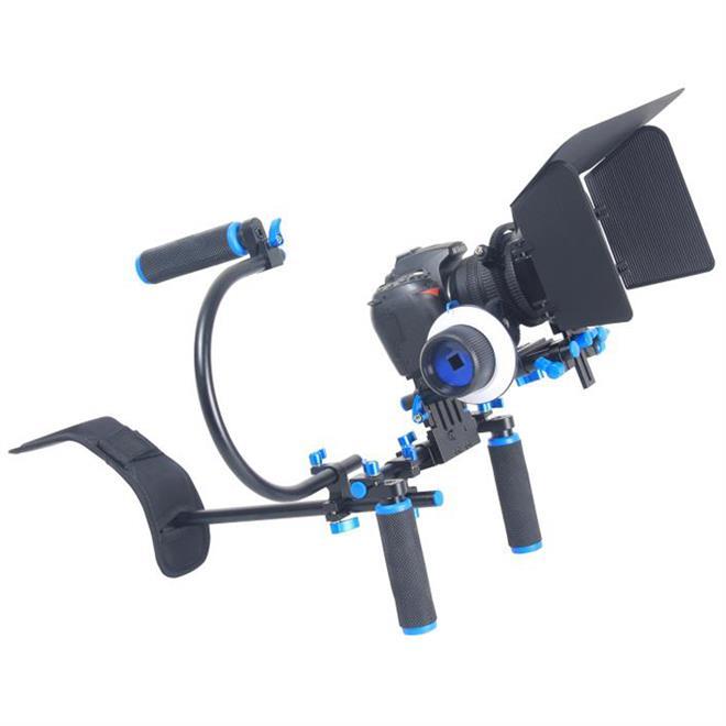 YELANGU DSLR Camera Movie Equipment Shoulder Rig Kit With Matte Box + Follow Focus