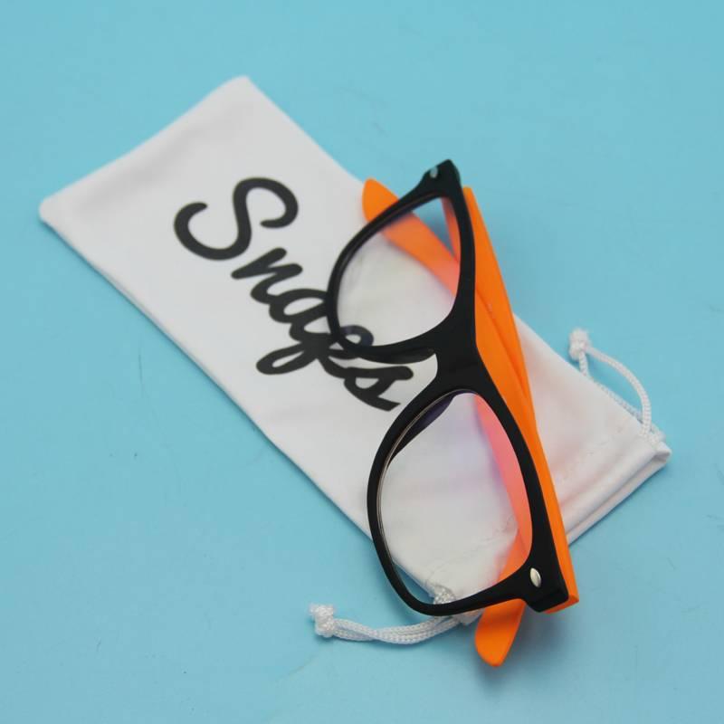 nice quality microfiber sunglass pouch with custom logo printed