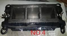 Cast iron three gang mould