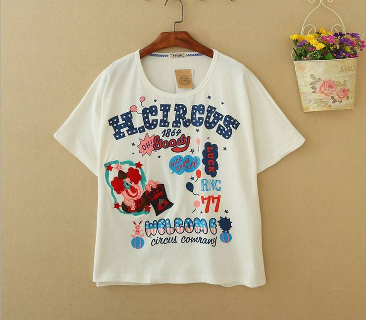 2015 New Lady Circus Short SleeveT-Shirt