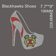 2015 Blackhawks shoes hot fix rhinestone heat transfers