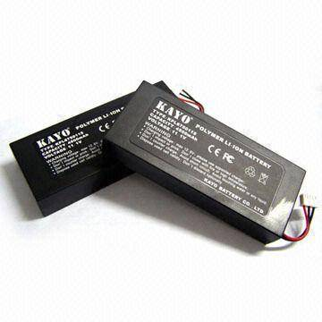 Li-poly Battery Pack with 12.6V Charging Voltage and 205 x 52 x 117mm Dimensions